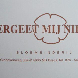 Bloembinderij Vergeet-Mij-Niet